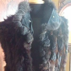 Marc by Andrew Marc Brown Fur Vest